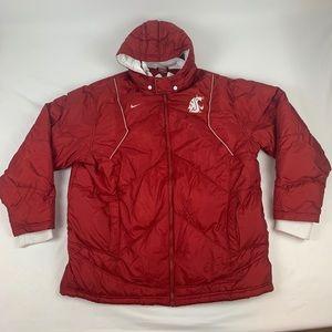 Washington State Cougars Men's Nike Hooded Coat.